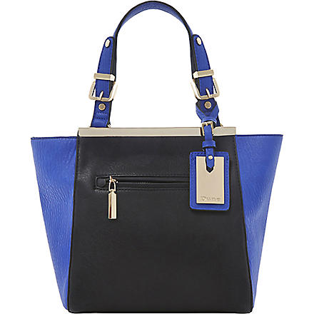 DUNE Deewinged faux-leather tote (Blue-synthetic