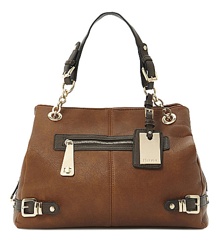 DUNE Daycon leather hobo (Tan-synthetic