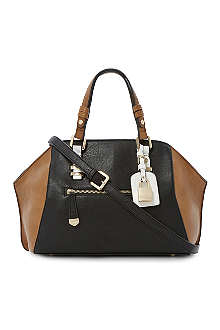 DUNE Dewine winged colour-block bowler bag