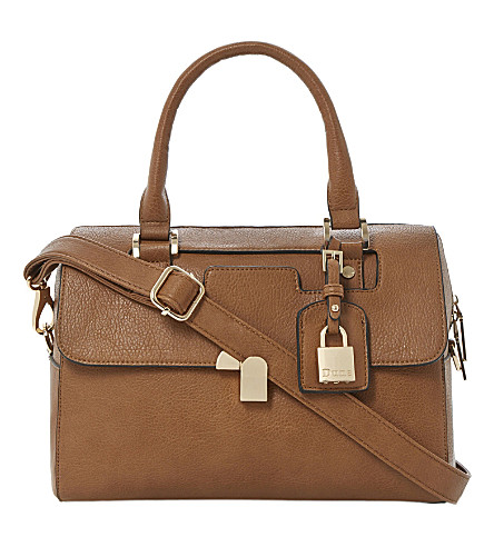 DUNE Barrel faux-leather cross-body bag (Tan-synthetic
