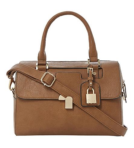 DUNE Barrel faux-leather cross-body bag (Tan-synthetic