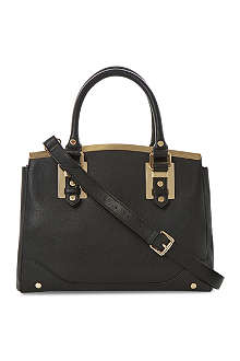 DUNE Dartop metal-trim handbag