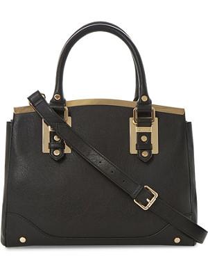 DUNE Dartop metal-trim handbag