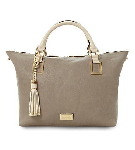 DUNE Deloris double handle tote bag (Grey-synthetic
