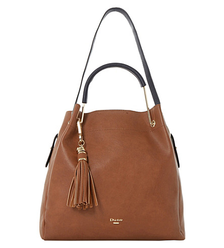 DUNE Daura metal handle slouch bag (Tan-synthetic