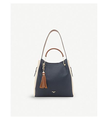 DUNE Daura faux-leather shoulder bag (Navy