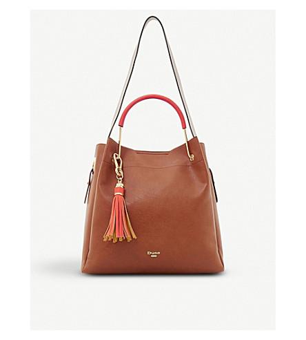 DUNE Daura faux-leather shoulder bag (Tan