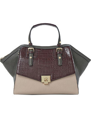 DUNE Darcy faux-leather winged tote