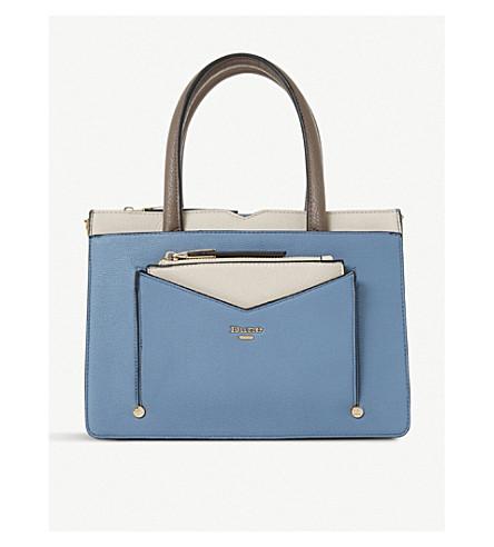 DUNE Dinidaran top handle tote bag (Blue-synthetic