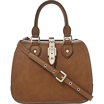 DUNE Bespoke faux-leather cross-body bag (Tan-synthetic
