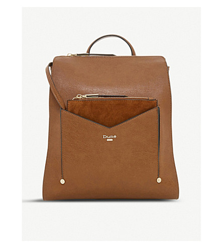 DUNE Ducky faux-leather backpack (Tan-synthetic