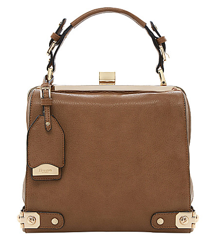DUNE Doblong leather-effect frame tote (Tan-synthetic