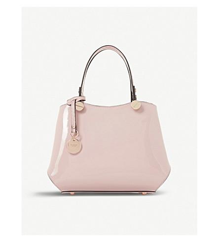 DUNE Dinidimogen patent faux-leather handbag (Nude-patent