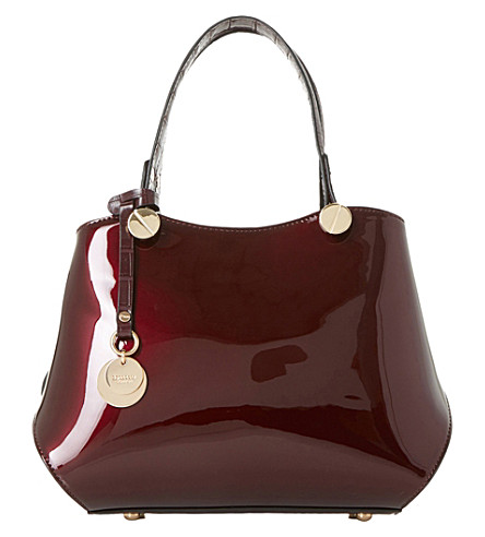 DUNE Dinidimogen patent faux-leather handbag (Berry-patent