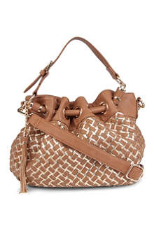 DUNE Dolita woven shoulder bag