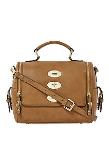 DUNE Dripplelock faux-leather satchel