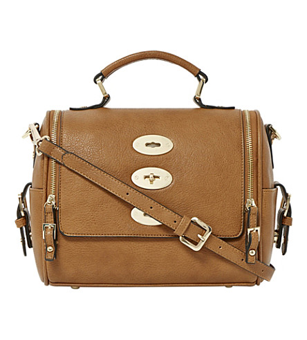 DUNE Dripplelock faux-leather satchel (Tan-synthetic