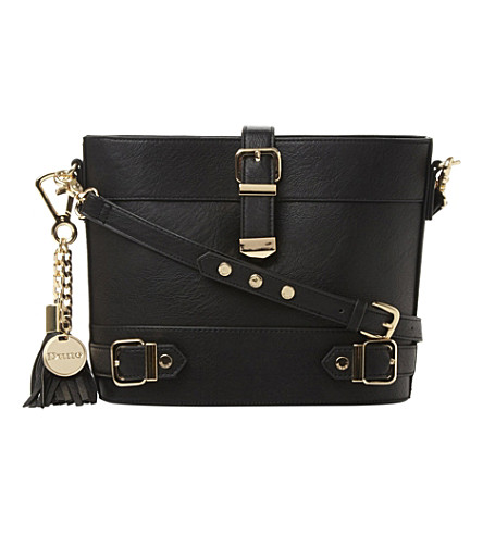 DUNE Buckle detail cross-body bag (Black-synthetic