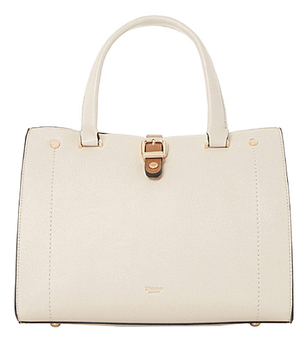 DUNE Daphney colour-block tote (Cream-plain+synthetic