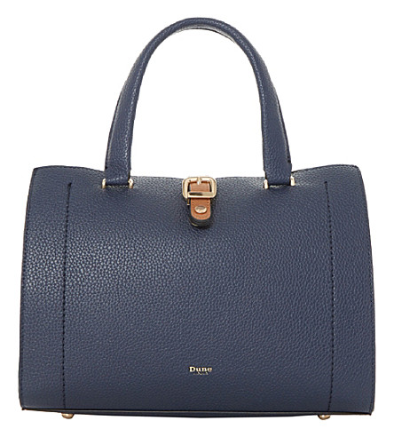 DUNE Daphney colour-block tote (Navy-plain+synthetic
