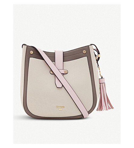 DUNE Danao faux-leather cross-body bag (Pink-plain+synthetic