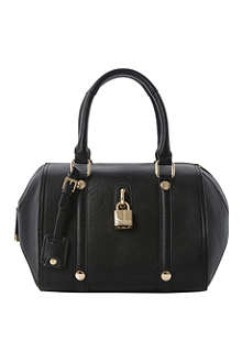 DUNE Daylocks faux-leather bowling bag