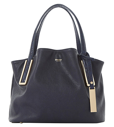 DUNE Dolliss slouchy bag (Navy-plain+synthetic