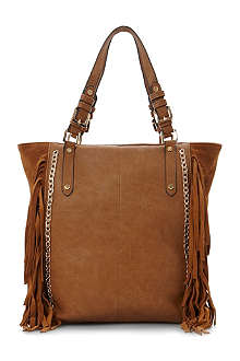 DUNE Dassleys leather and suede shopper