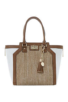 DUNE Drifter winged raffia shopper bag