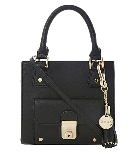 DUNE Dinky faux-leather tote (Black-synthetic