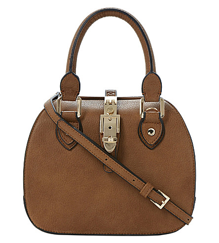 DUNE Dinidintage faux-leather bowler bag (Tan-synthetic