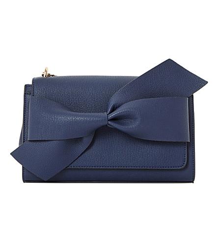 DUNE Dhloe twist knot shoulder bag (Navy-plain+synthetic