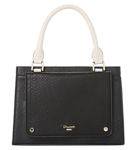 DUNE Dinidophie top handle handbag (Black-synthetic