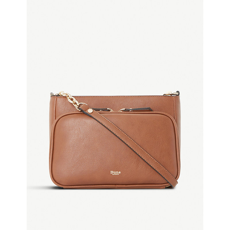 Dorrea faux-leather cross-body bag