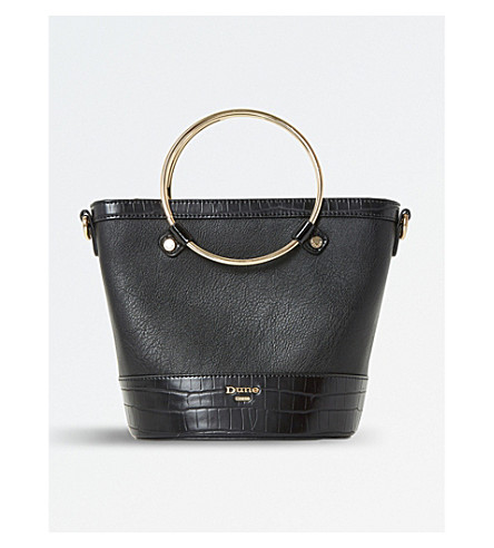 DUNE Dircle circle-handle shopper bag (Black-croc