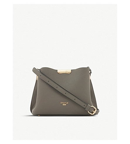 Dinidarrow textured crossbody bag