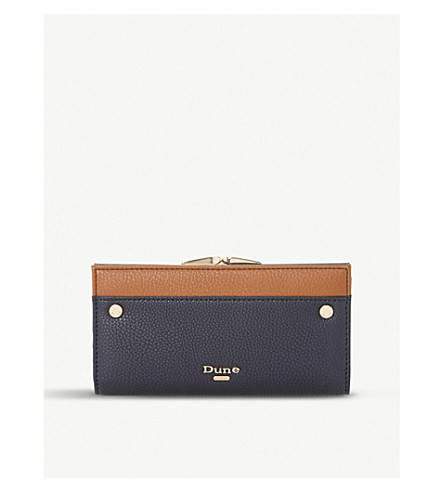 DUNE Kavie two-toned purse (Navy-plain+synthetic