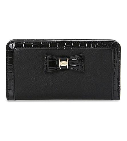 Kebow faux-leather wallet (Black-synthetic