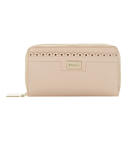 DUNE Kipscallop faux-leather wallet (Pink-synthetic
