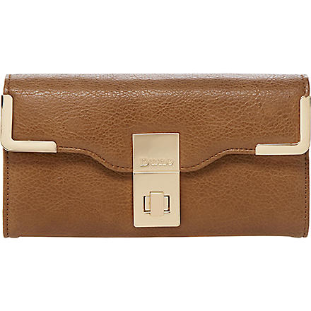 DUNE Korners faux-leather wallet (Tan-synthetic