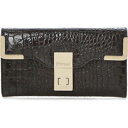 DUNE Korners mock-croc clutch (Brown-synthetic