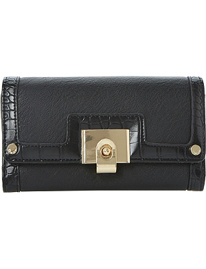 DUNE Klinton fliplock faux-leather purse