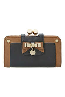 DUNE Klipbowdisc colourblock bow-detail purse