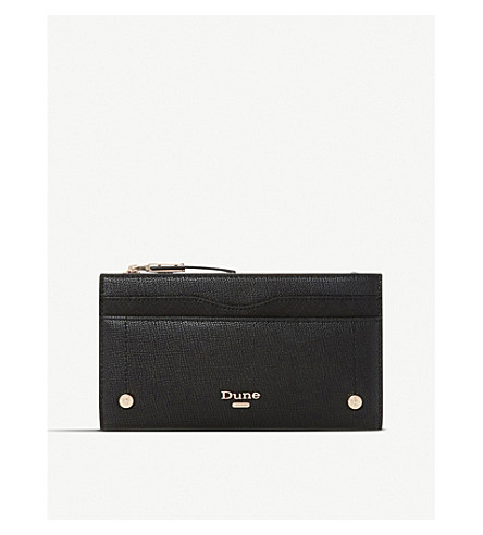 DUNE Karan faux-leather purse (Black-plain+synthetic