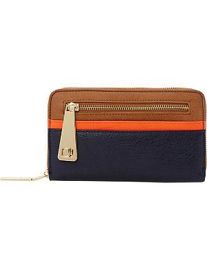 DUNE Kipster zip front colour block purse
