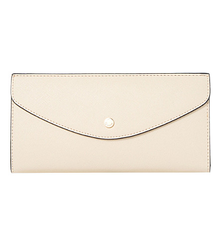 DUNE Kandice slim flap purse (Nude-plain synthetic