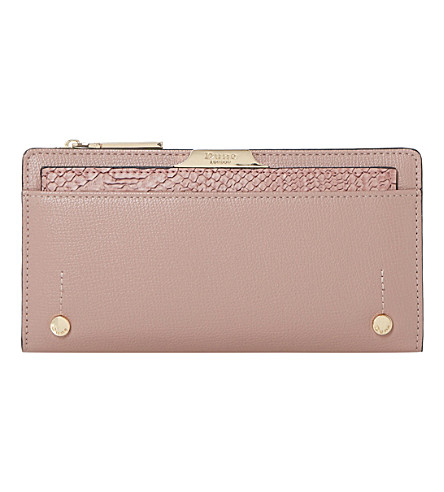 DUNE Kerrie slim faux-leather purse (Pink-plain synthetic