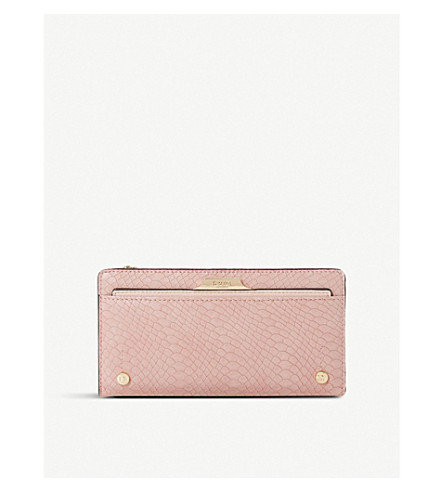 DUNE Kerrie reptile leather-look purse (Nude-synthetic+reptile