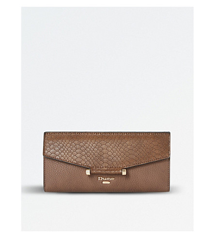 DUNE Kathey bar-detail purse (Brown-plain+synthetic