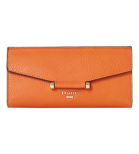 DUNE Kathey reptile-embossed purse (Orange-plain+synthetic